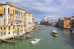 Италия Грандиозный канал Изображение ландшафта здания Венеции стоковое фото