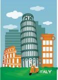 Италия и Пиза, Рим, Colosseum Стоковые Фотографии RF
