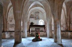 Италия, крипта церков романск стоковая фотография rf