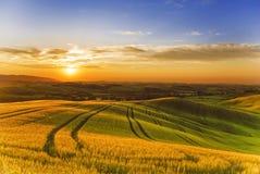 Италия Ландшафты Тосканы стоковое изображение