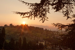 Италия Ландшафт выравнивать Флоренс Стоковая Фотография RF