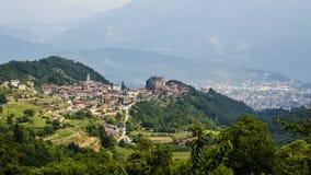 Италия, около Riva del Garda, осматривает сверху Стоковые Фото