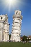 Италия Пиза полагаясь башня pisa Стоковая Фотография RF