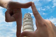 Италия полагаясь башня pisa Стоковое фото RF