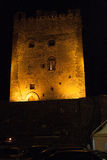 Италия Сицилия Adrano к ноча Стоковое фото RF