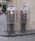 Италия, Тоскана, город Флоренса Переговорные будки Стоковая Фотография