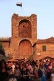 Италия, Тоскана, деревня Monteriggioni, Сиена Стоковые Фото