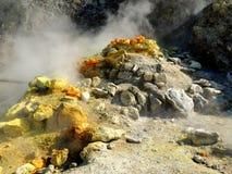 Италия, туризм, natur, вулкан, Solfatara Стоковое Изображение