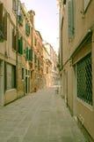 Италия Флоренция ландшафт урбанский узкая улица Стоковые Фотографии RF
