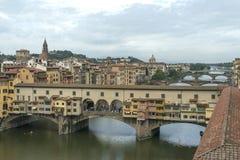 Италия Флоренция Золотистый мост Стоковое Изображение RF