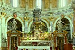 Италия rome Христианские интерьеры собора Стоковые Фотографии RF