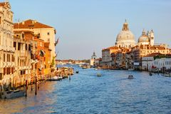 Италия venice взгляд канала грандиозный Стоковое фото RF