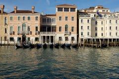Италия venice Панорамный взгляд Венеции, грандиозного канала Улица Венеции, взгляд канала Венеции Италия venice Стоковая Фотография