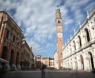 Италия vicenza большой квадрат города с памятником вызвал b Стоковые Изображения