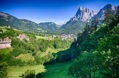 Итальянка Альпы - Sciliar Стоковое Изображение RF