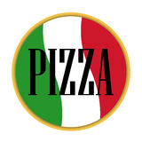 Итальянка вектора значка пиццы Стоковое Изображение