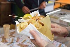 Итальянка жаря рыб и овощей Стоковые Фото