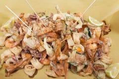 Итальянка жаря рыб и овощей Стоковая Фотография RF