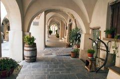 Итальянская аркада Стоковая Фотография RF