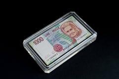 Итальянская банкнота Стоковая Фотография