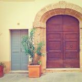 Итальянская дверь Стоковая Фотография RF