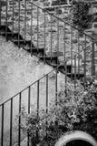 Итальянская внешняя лестница Стоковые Изображения RF