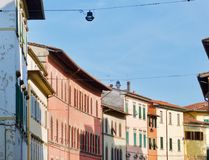 Итальянская городская перспектива стоковые фото