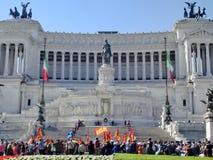 Итальянская забастовка работников в Риме Стоковые Фото