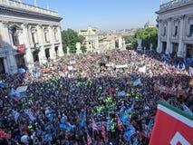 Итальянская забастовка работников в Риме Стоковые Фотографии RF