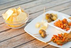 Итальянская закуска. счастливый час Стоковое Фото