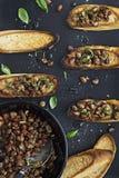 Итальянская закуска Crostini Стоковое Изображение RF