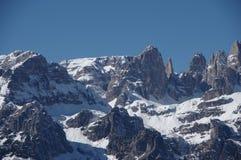 Итальянская зима 12 снега andalo горных вершин Стоковые Фотографии RF