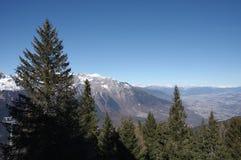 Итальянская зима 11 снега andalo горных вершин Стоковые Изображения RF