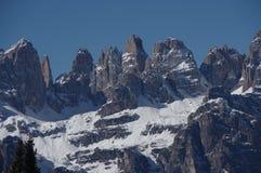 Итальянская зима 7 снега andalo горных вершин Стоковая Фотография