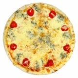 Итальянская изолированная пицца Стоковые Изображения