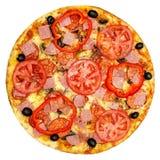 Итальянская изолированная пицца Стоковые Фото