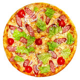 Итальянская изолированная пицца Стоковое Фото