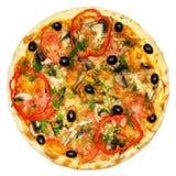 Итальянская изолированная пицца Стоковая Фотография