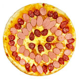 Итальянская изолированная пицца Стоковое Изображение