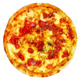 Итальянская изолированная пицца Стоковое фото RF