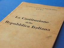 Итальянская книга конституции в Риме Стоковые Изображения RF