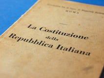 Итальянская книга конституции в Риме Стоковое фото RF