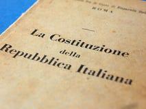 Итальянская книга конституции в Риме Стоковые Фотографии RF