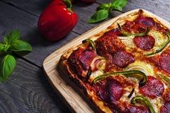 Итальянская домодельная пицца стоковое изображение