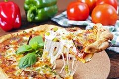 Итальянская домодельная пицца стоковая фотография