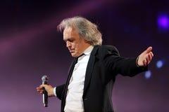 Итальянская певица Riccardo Fogli шипучки Стоковое фото RF