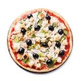 Итальянская пицца цезарь стоковое изображение