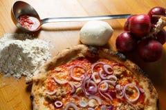 Итальянская пицца Стоковое Фото