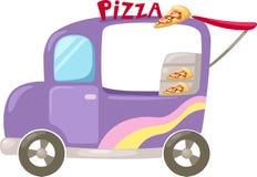 Итальянская подающая тележка пиццы Стоковое Изображение