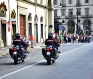 Итальянская полиция в мотоцикле Стоковые Изображения